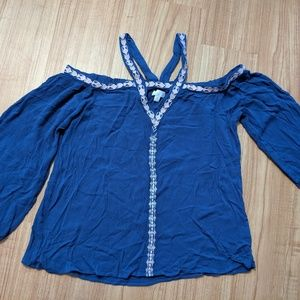 Navy Blue Charming Charlie's Blouse